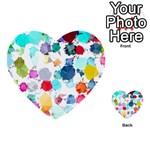 Colorful Diamonds Dream Multi-purpose Cards (Heart)  Front 17