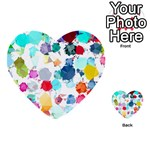 Colorful Diamonds Dream Multi-purpose Cards (Heart)  Front 38