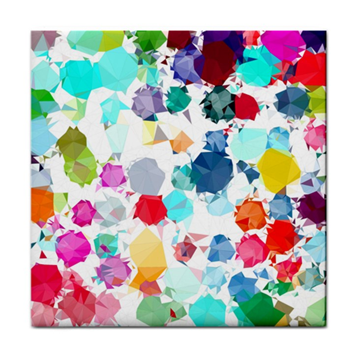 Colorful Diamonds Dream Face Towel