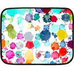 Colorful Diamonds Dream Double Sided Fleece Blanket (Mini)  35 x27 Blanket Back