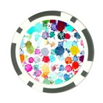 Colorful Diamonds Dream Poker Chip Card Guards (10 pack)  Back