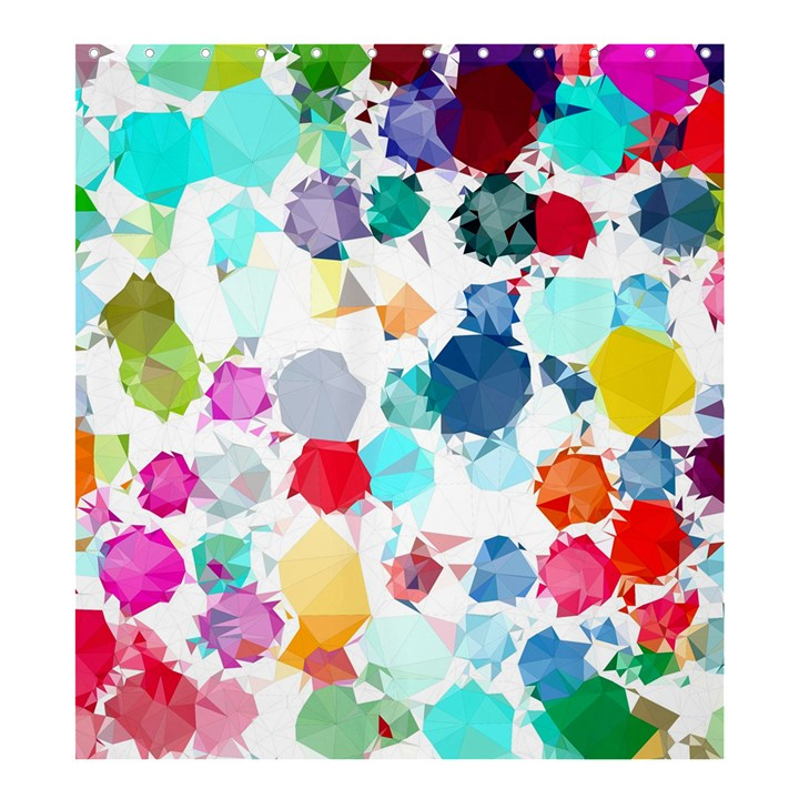 Colorful Diamonds Dream Shower Curtain 66  x 72  (Large)