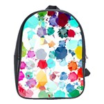 Colorful Diamonds Dream School Bags(Large)  Front