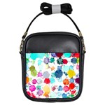 Colorful Diamonds Dream Girls Sling Bags Front