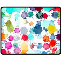 Colorful Diamonds Dream Fleece Blanket (medium)