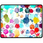 Colorful Diamonds Dream Fleece Blanket (Medium)  60 x50 Blanket Front