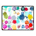 Colorful Diamonds Dream Fleece Blanket (Small) 50 x40 Blanket Front