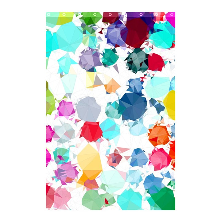 Colorful Diamonds Dream Shower Curtain 48  x 72  (Small)