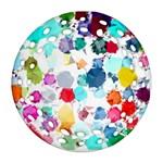 Colorful Diamonds Dream Ornament (Round Filigree)  Front