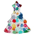 Colorful Diamonds Dream Christmas Tree Ornament (2 Sides) Back