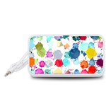 Colorful Diamonds Dream Portable Speaker (White)  Front