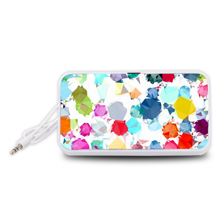 Colorful Diamonds Dream Portable Speaker (White)