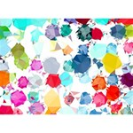 Colorful Diamonds Dream Get Well 3D Greeting Card (7x5) Back