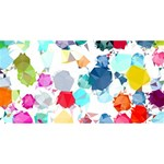 Colorful Diamonds Dream Happy New Year 3D Greeting Card (8x4) Back