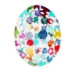 Colorful Diamonds Dream Oval Filigree Ornament (2-Side)  Front