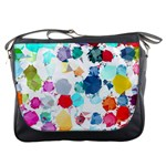 Colorful Diamonds Dream Messenger Bags Front