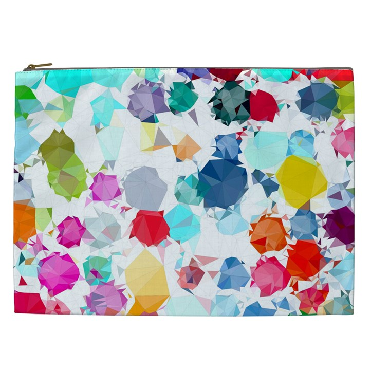 Colorful Diamonds Dream Cosmetic Bag (XXL)