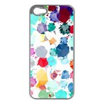 Colorful Diamonds Dream Apple iPhone 5 Case (Silver) Front