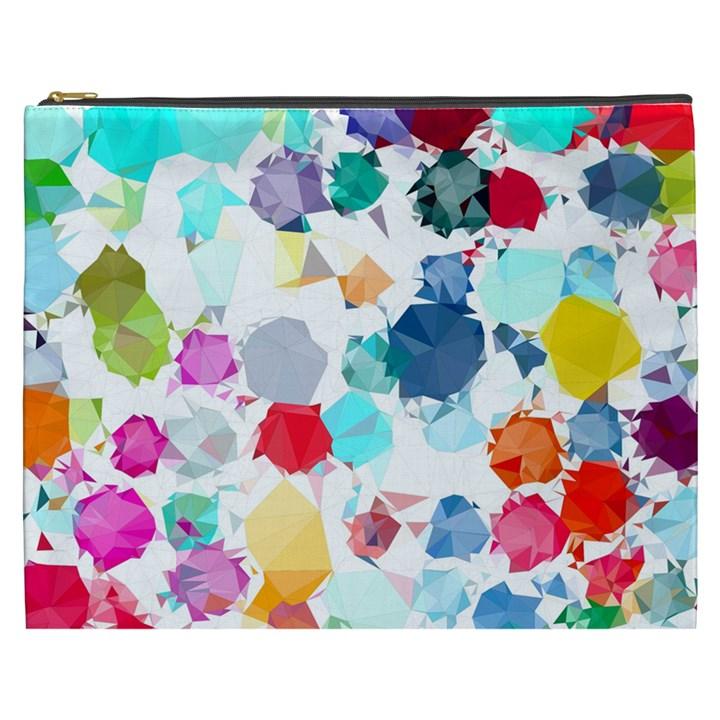 Colorful Diamonds Dream Cosmetic Bag (XXXL)