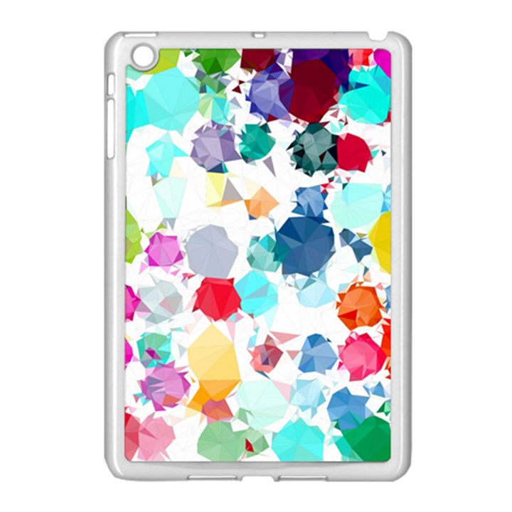 Colorful Diamonds Dream Apple iPad Mini Case (White)