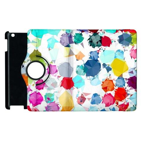 Colorful Diamonds Dream Apple iPad 3/4 Flip 360 Case