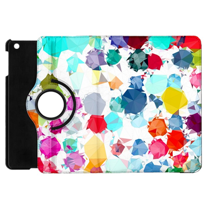 Colorful Diamonds Dream Apple iPad Mini Flip 360 Case