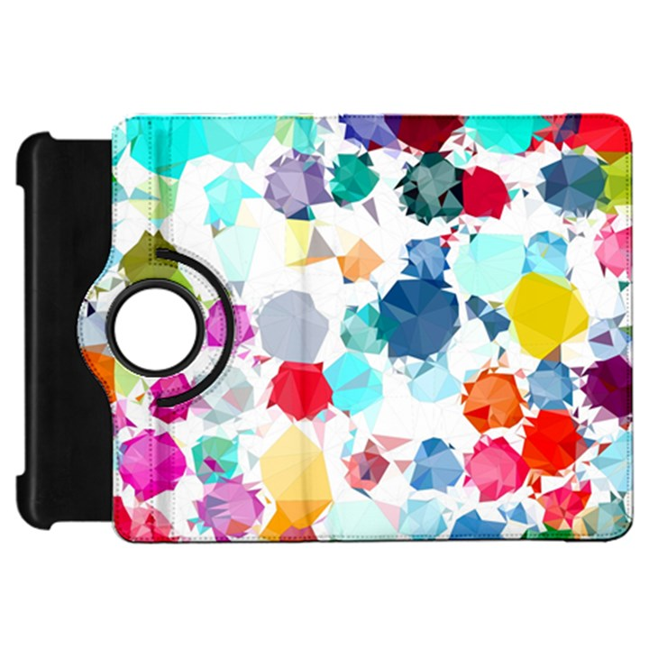 Colorful Diamonds Dream Kindle Fire HD Flip 360 Case