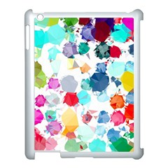 Colorful Diamonds Dream Apple iPad 3/4 Case (White)