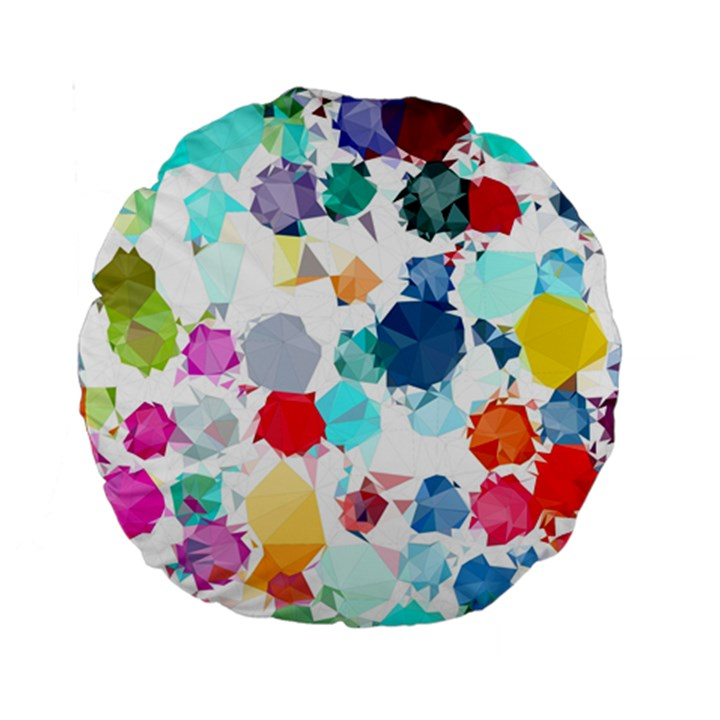 Colorful Diamonds Dream Standard 15  Premium Round Cushions