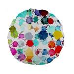 Colorful Diamonds Dream Standard 15  Premium Round Cushions Back