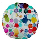 Colorful Diamonds Dream Large 18  Premium Round Cushions Back