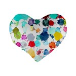Colorful Diamonds Dream Standard 16  Premium Heart Shape Cushions Back