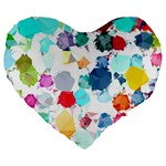Colorful Diamonds Dream Large 19  Premium Heart Shape Cushions Front