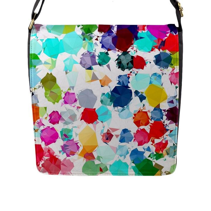 Colorful Diamonds Dream Flap Messenger Bag (L)