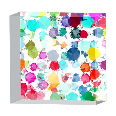 Colorful Diamonds Dream 5  x 5  Acrylic Photo Blocks