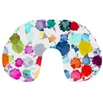Colorful Diamonds Dream Travel Neck Pillows Back