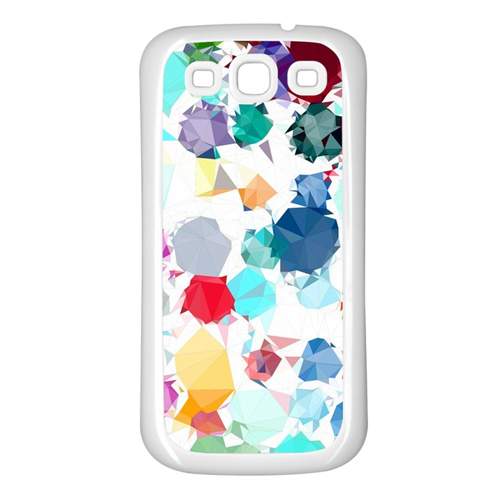 Colorful Diamonds Dream Samsung Galaxy S3 Back Case (White)