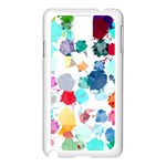 Colorful Diamonds Dream Samsung Galaxy Note 3 N9005 Case (White) Front