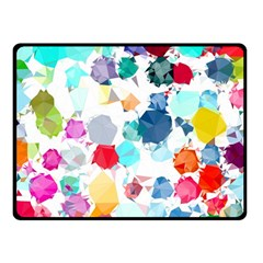 Colorful Diamonds Dream Double Sided Fleece Blanket (small)