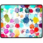 Colorful Diamonds Dream Double Sided Fleece Blanket (Medium)  60 x50 Blanket Front