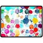 Colorful Diamonds Dream Double Sided Fleece Blanket (Large)  80 x60 Blanket Back