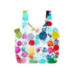 Colorful Diamonds Dream Full Print Recycle Bags (S)  Back