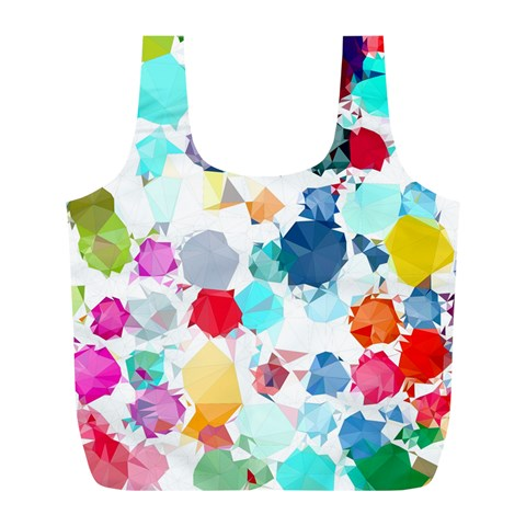 Colorful Diamonds Dream Full Print Recycle Bags (L)