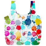 Colorful Diamonds Dream Full Print Recycle Bags (L)  Front