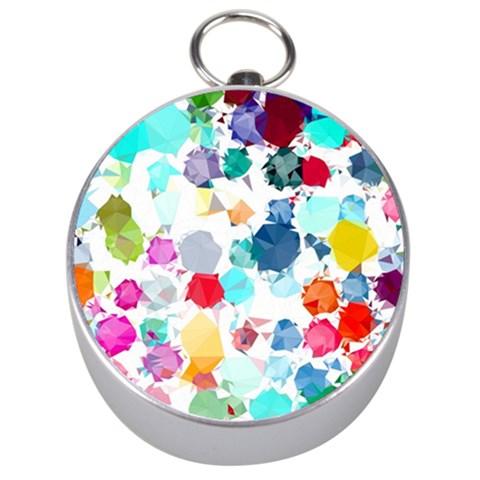 Colorful Diamonds Dream Silver Compasses