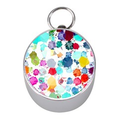 Colorful Diamonds Dream Mini Silver Compasses