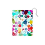 Colorful Diamonds Dream Drawstring Pouches (Small)  Front