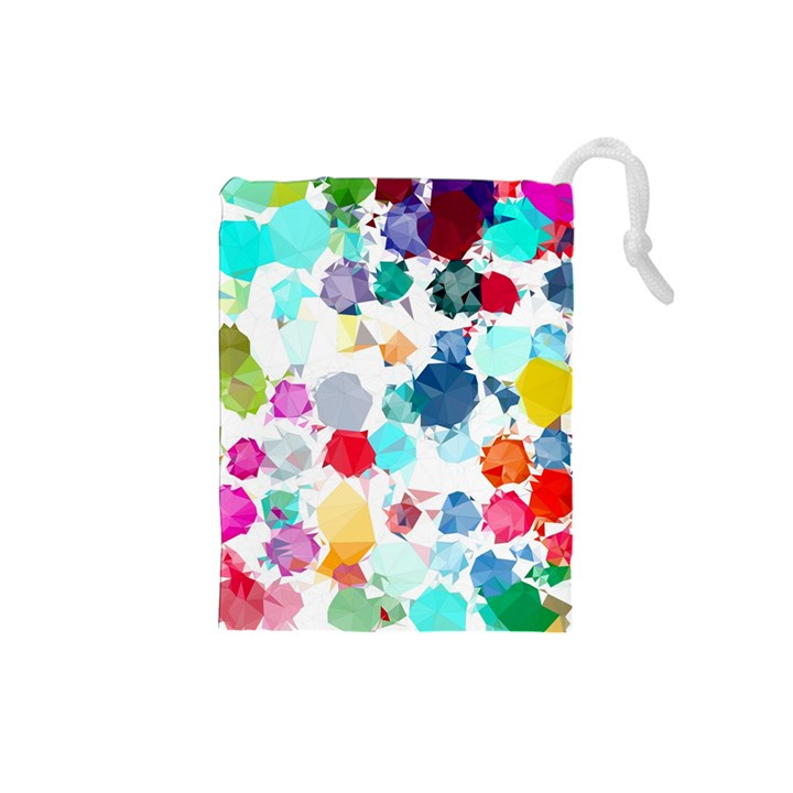 Colorful Diamonds Dream Drawstring Pouches (Small)
