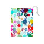 Colorful Diamonds Dream Drawstring Pouches (Medium)  Front