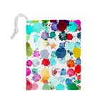 Colorful Diamonds Dream Drawstring Pouches (Medium)  Back